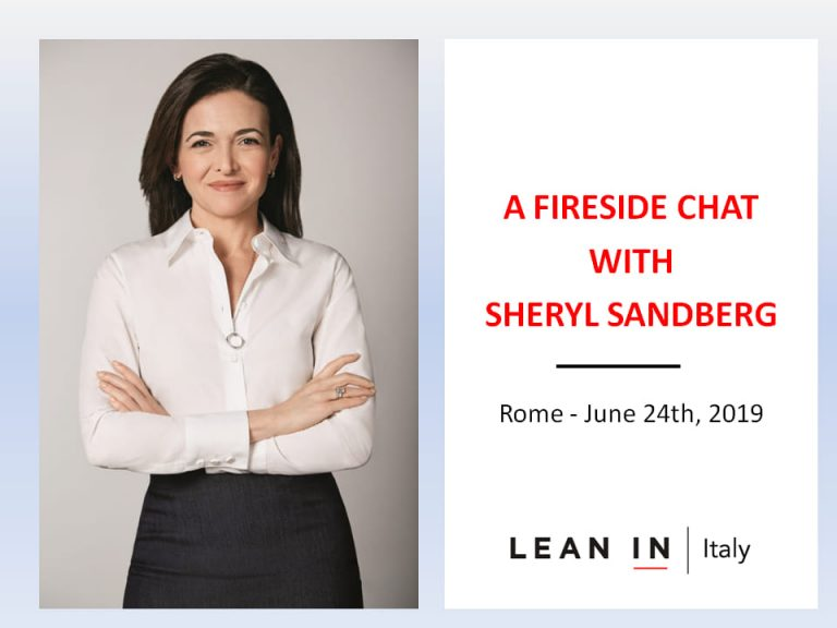 A fireside chat with Sheryl Sandberg in Rome