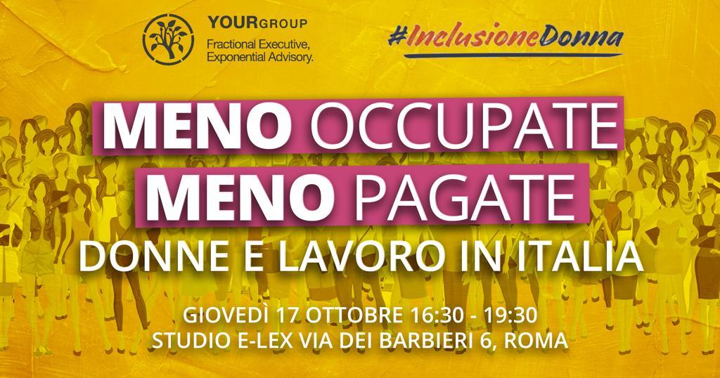 Donne e lavoro in Italia – Presentazione di #Inclusionedonna