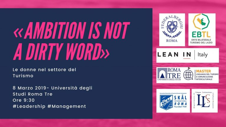 Ambition in not a dirty word – Le donne nel settore del turismo