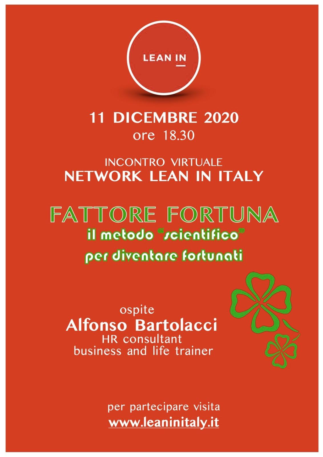 """Workshop online su """"Fattore Fortuna"""""""